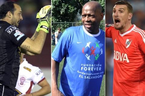 Marcos Díaz, Faustino Asprilla y Franco Armani