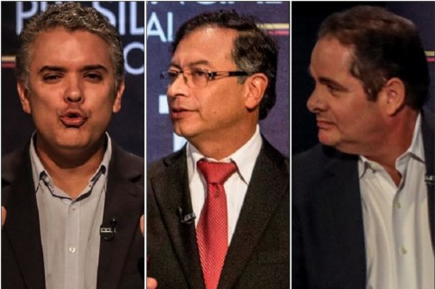Iván Duque, Gustavo Petro y Germán Vargas Lleras