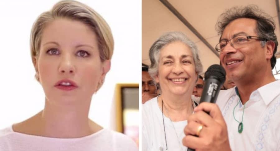 Claudia Gurisatti, su mamá y Gustavo Petro