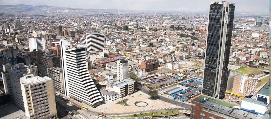 Panorámica del centro de Bogotá
