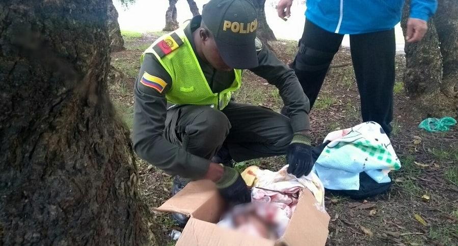 Bebé encontrado en parque de Bogotá
