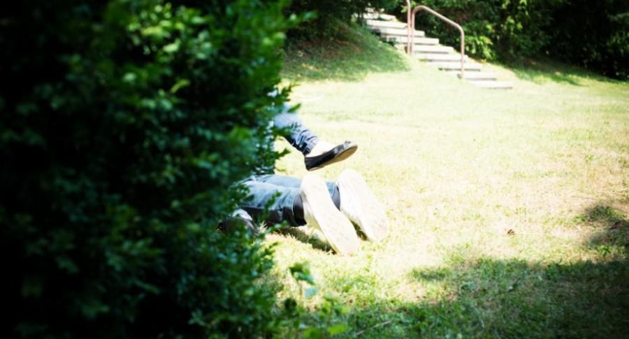 Pareja tiene sexo en un parque.