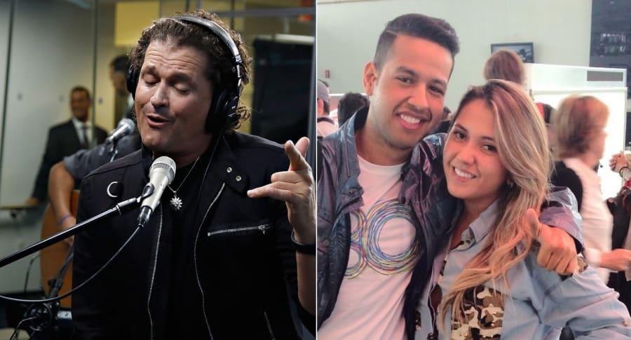 Carlos Vives y Martín Elías, cantantes, y Dayana Jaimes.