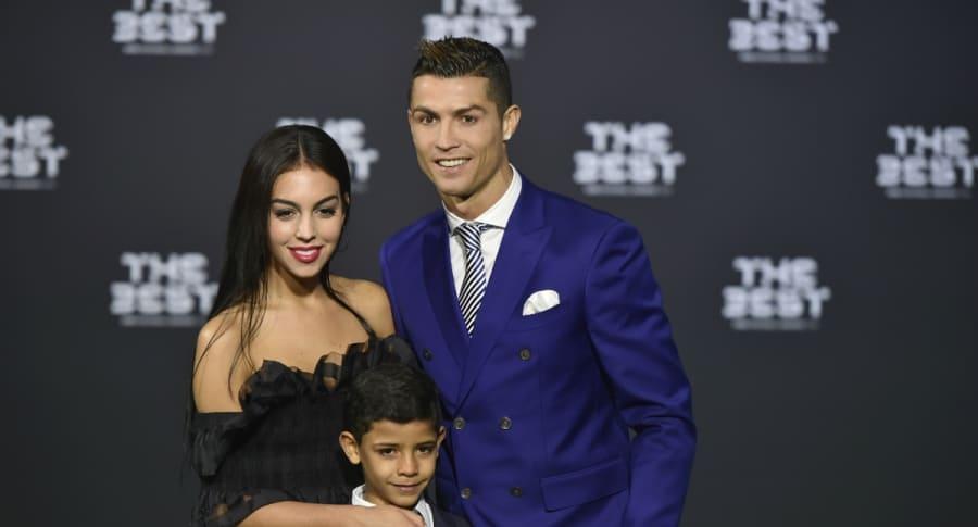 Georgina Rodriguez, Cristiano Ronaldo y Cristiano Ronaldo Jr.