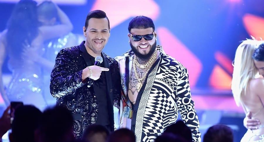 Víctor Manuelle y Farruko, cantantes.