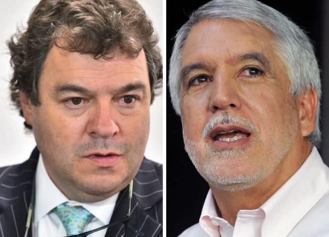 Carlos Negret, defensor del pueblo, y Enrique Peñalosa, alcalde de Bogotá