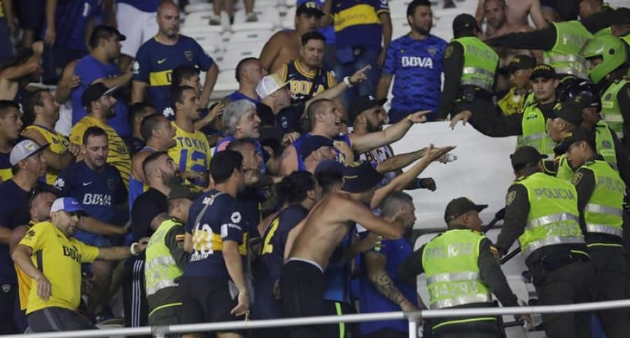 Hinchas de Boca Juniors en Barranquilla