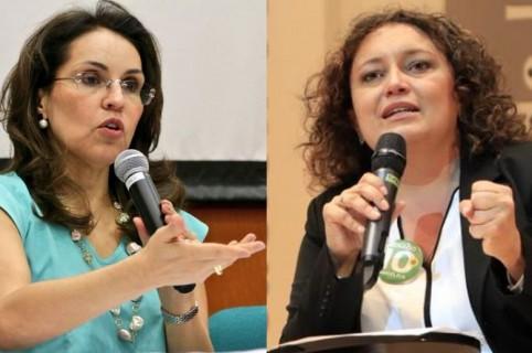 Viviane Morales y Angélica Lozano