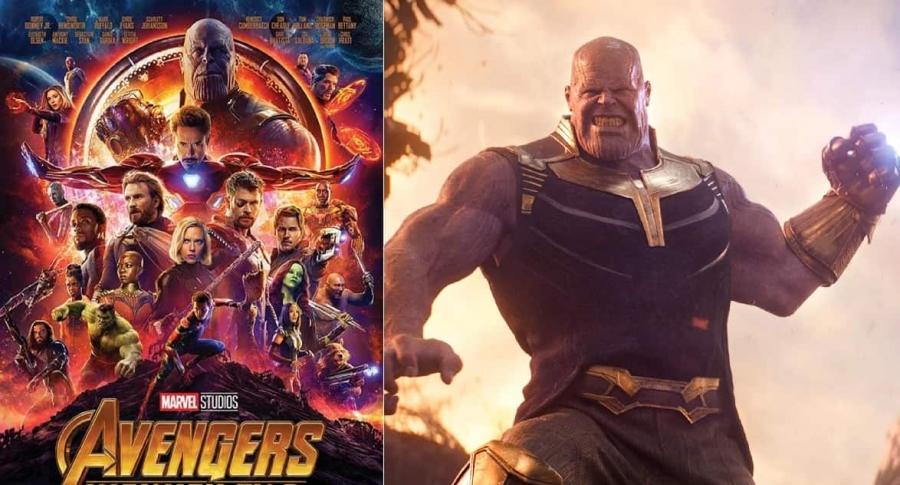 Cartel de 'Avengers Infinity War' y Thanos.