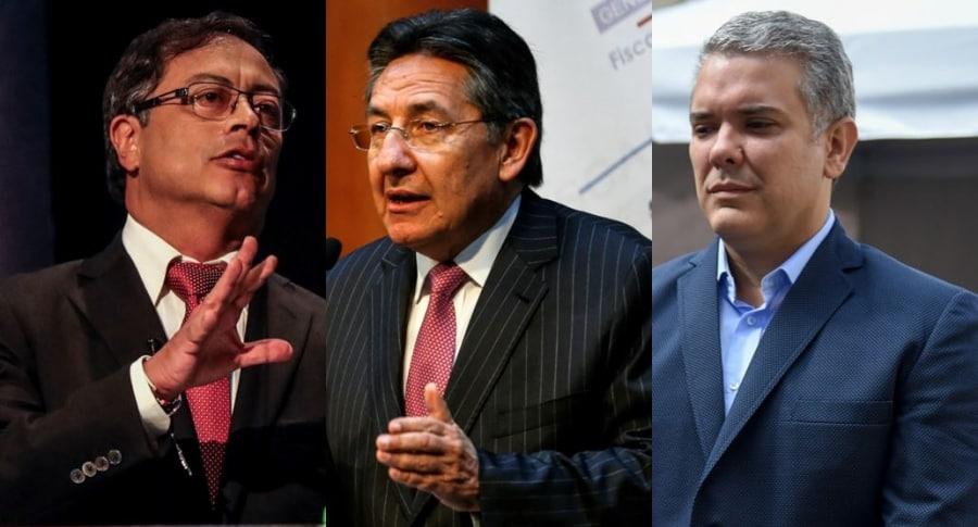 Gustavo Petro, Néstor Humberto Martínez e Iván Duque