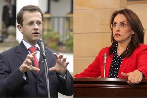 Andrés Felipe Arias y Viviane Morales