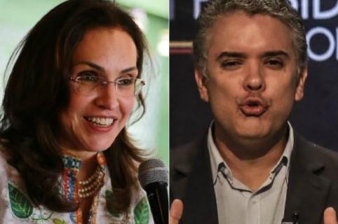 Viviane Morales e Iván Duque