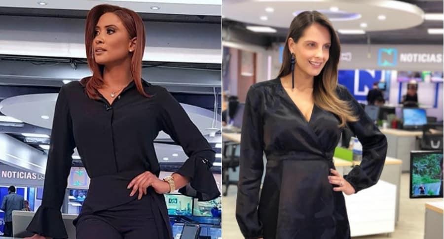 Diana Mina y Laura Acuña, presentadoras.