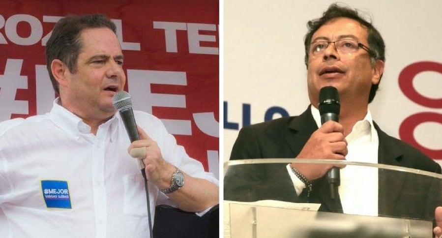 Germán Vargas Lleras y Gustavo Petro