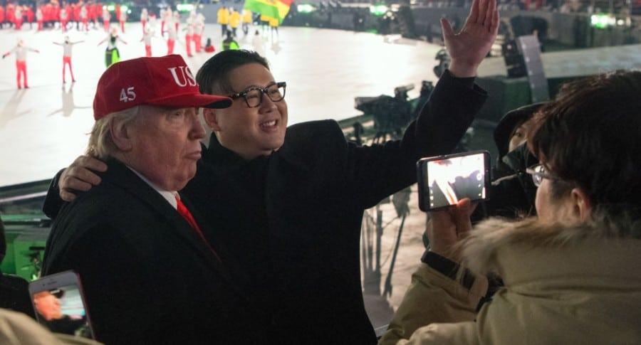 Imitaciones de Donald Trump y Kim Jong-un