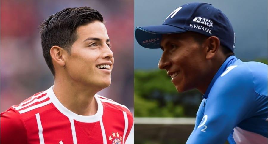 James Rodríguez y Nairo Quintana