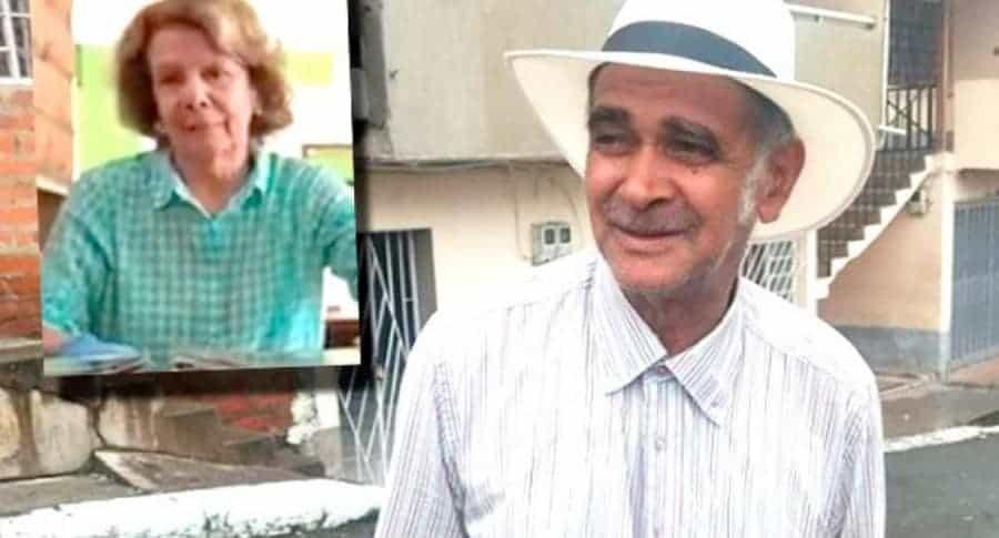 Don José y propietaria del restaurante Taquino