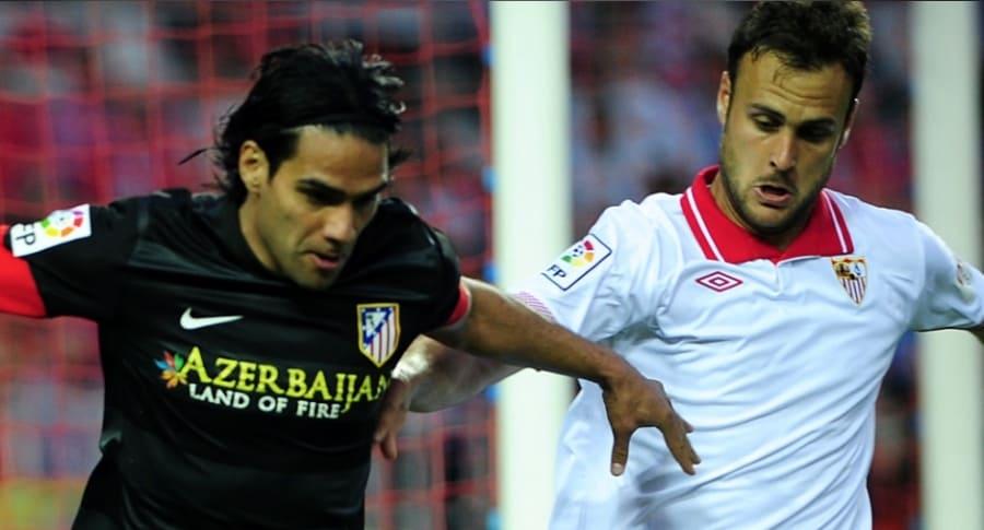 Falcao contra Sevilla