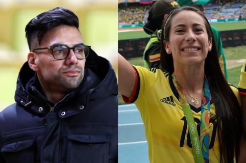 Falcao García y Mariana Pajón