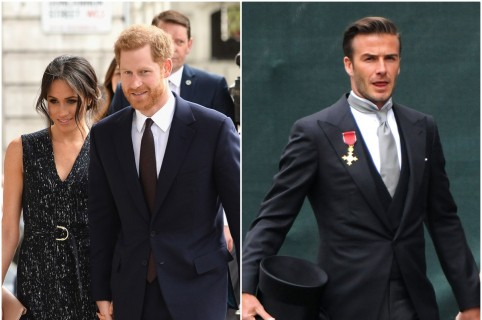Meghan Markle y el príncipe Harry / David Beckham