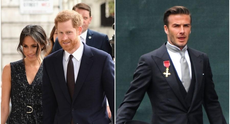 Meghan Markle y el príncipe Harry / David Beckham