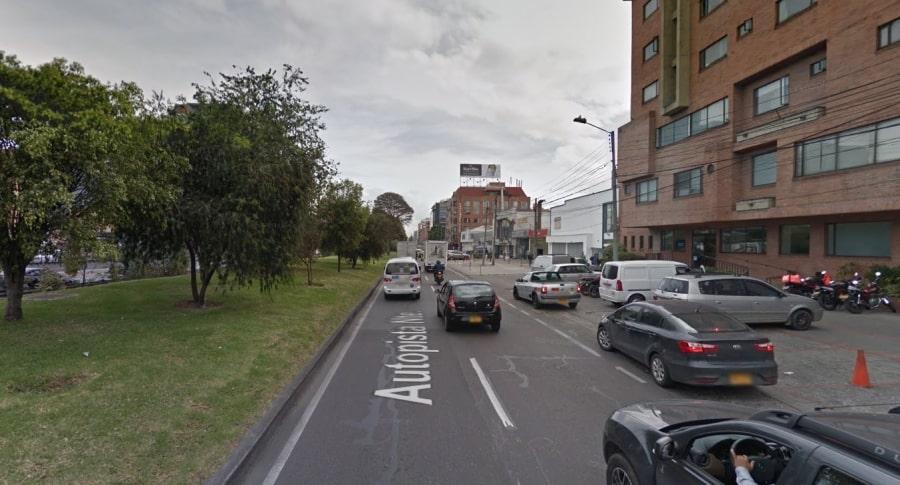 Autopista Norte, en Bogotá
