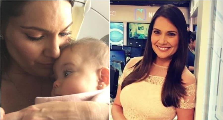Jessica de la Peña y su hija Luna