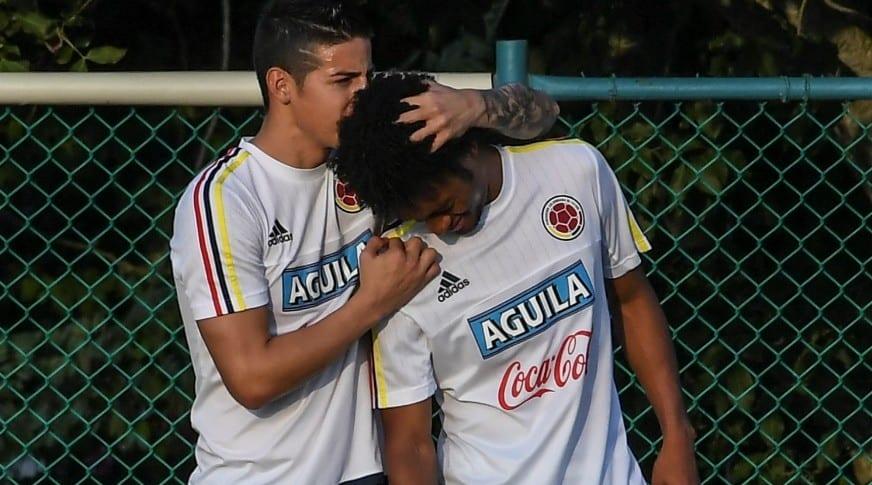 James Rodríguez y Juan Guillermo Cuadrado