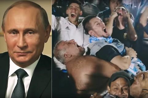 Putin e hinchas de Argentina