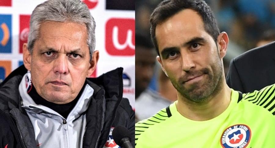 Reinaldo Rueda y Claudio Bravo