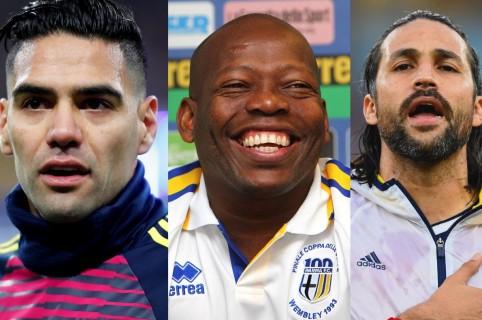 Falcao, Faustino Asprilla y Mario Yepes