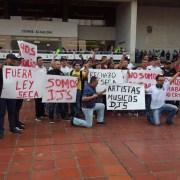 Protesta comerciantes