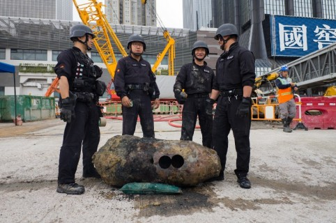 Bomba de la Segunda Guerra Mundial en Hong Kong