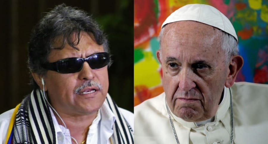 'Jesús Santrich' y papa Francisco