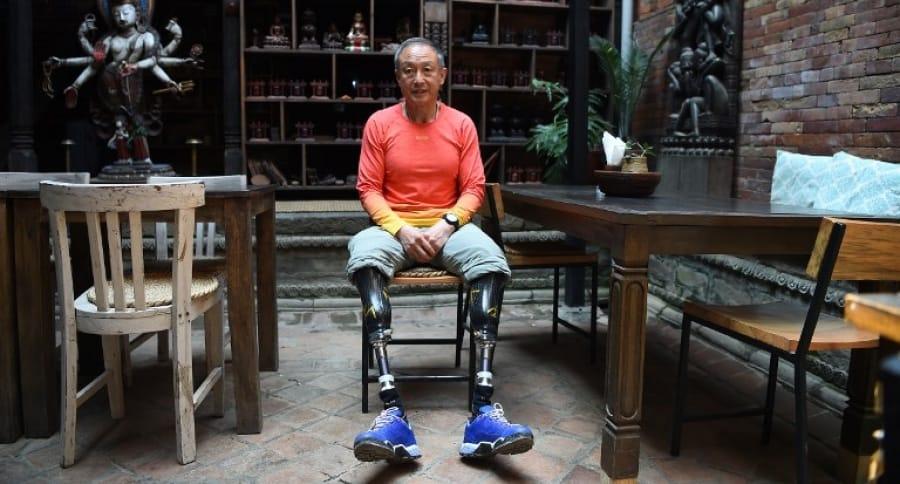 El alpinista chino Xia Boyu .