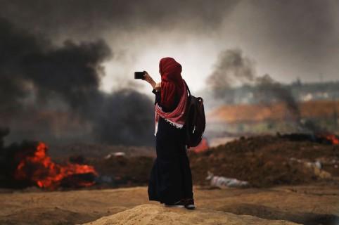 Manifestaciones en Gaza