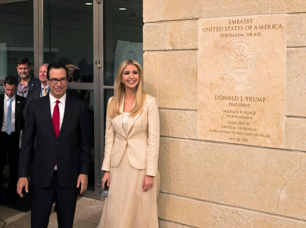 Ivanka Trump en la embajada de Estados Unidos