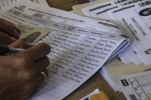 Listado de nombres en elecciones
