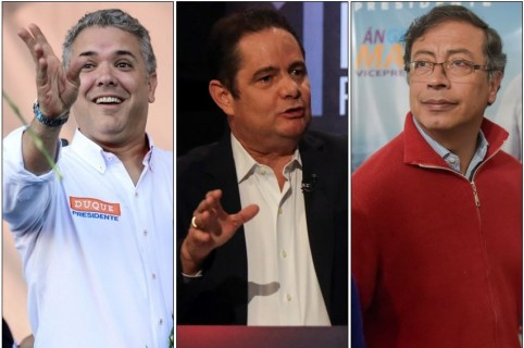 Iván Duque, Germán Vargas Lleras y Gustavo Ptro