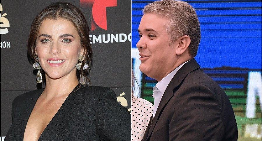 María Fernanda Yepes, actriz, e Iván Duque, político.