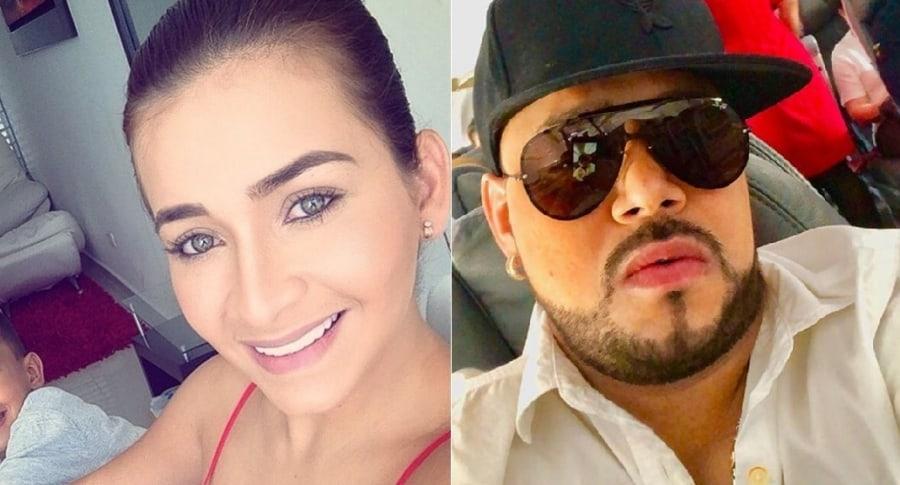 Anny Sarmiento y el cantante Yader Romero.