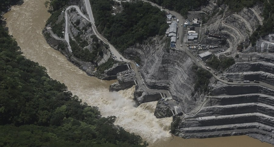 Vista aérea de Hidroituango