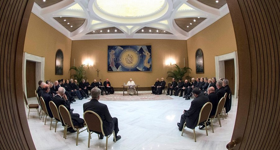Reunión del papa Francisco con obispos chilenos
