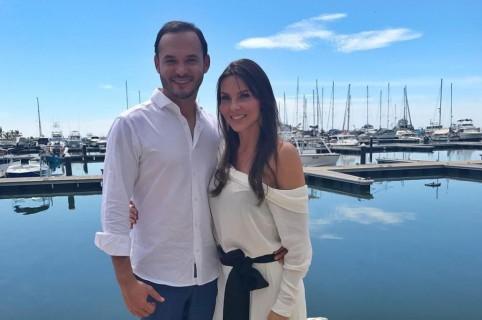 Paula Andrea Betancur, exreina, y Luis Miguel Zabaleta, dermatólogo.
