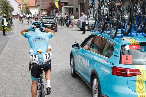 Carro del equipo Astana