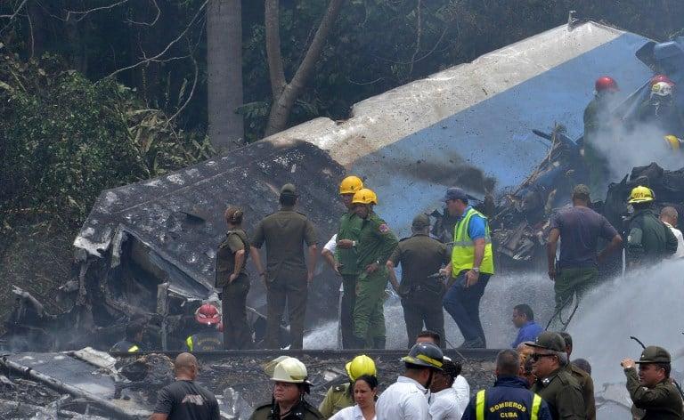 Accidente de avión cubano