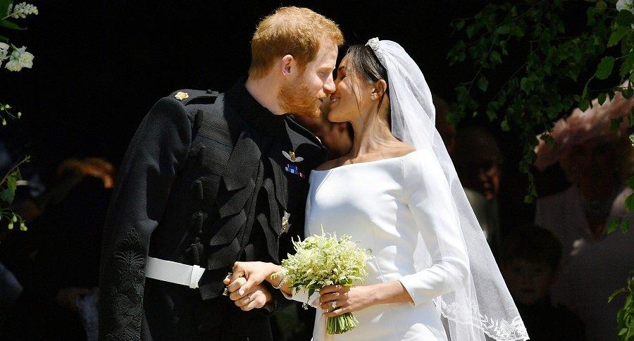 Príncipe Harry y Meghan Markle en su matrimonio