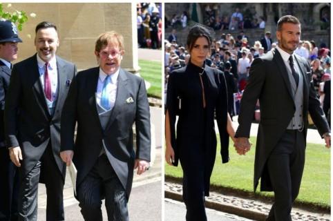 Amal y George Clooney/Elton John y David Furnish/David y Victoria Beckham