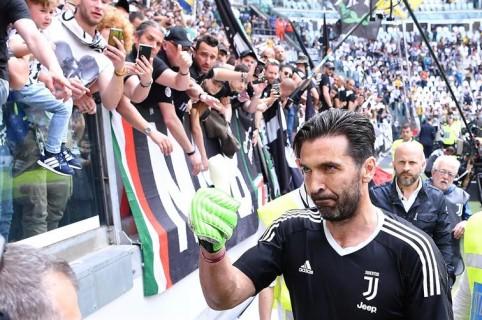 Buffon en su despedida de la Juventus