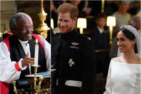 Michael Curry / Príncipe Harry y Meghan Markle